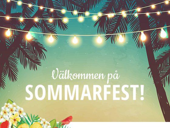 Välkommen till 2018-års sommarfest!